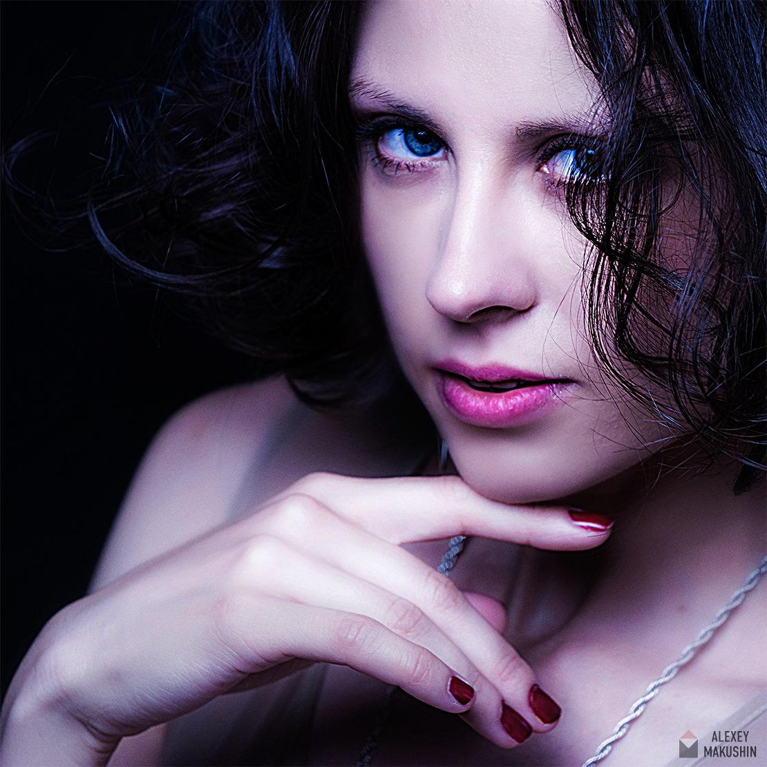 Студийная фотосъемка портрета