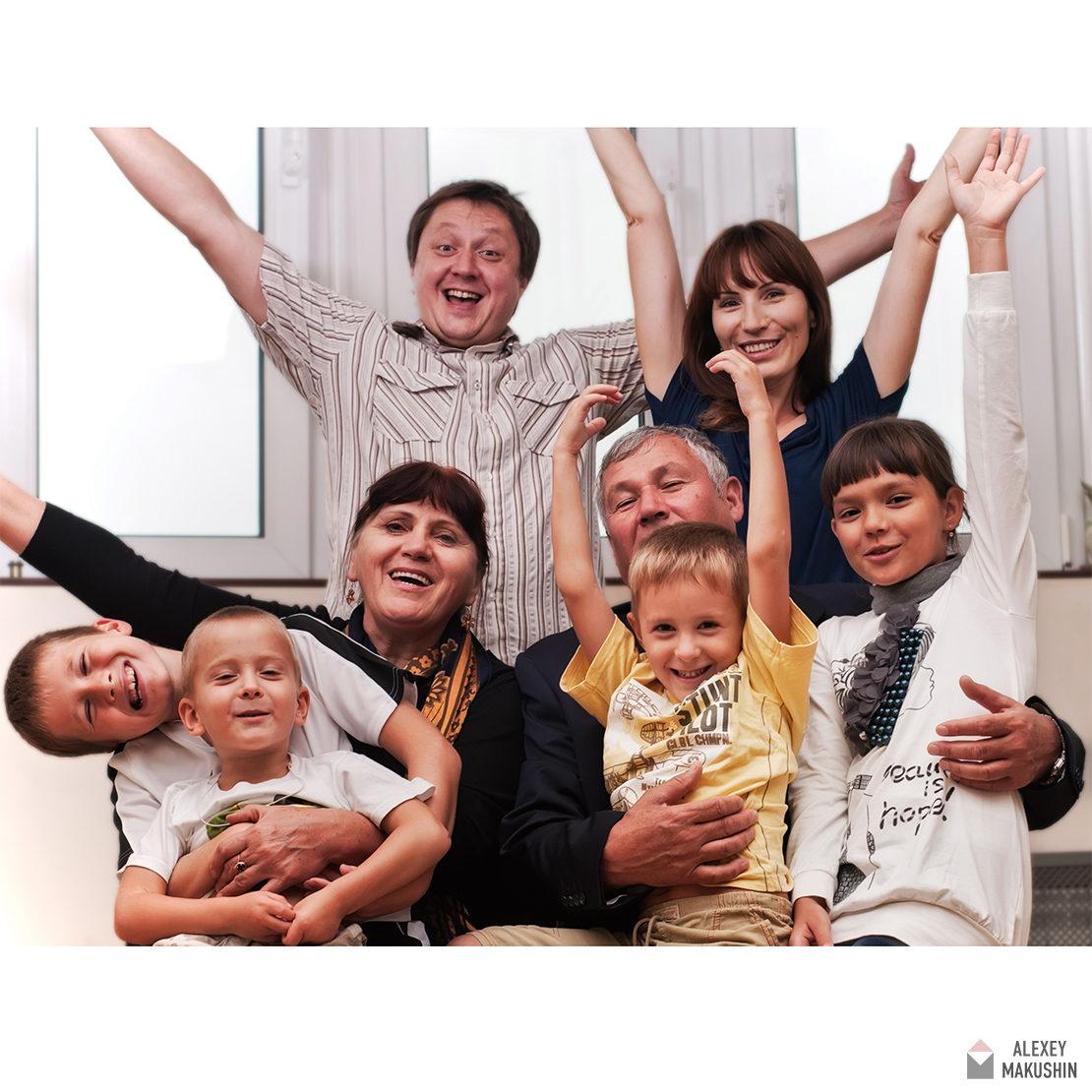 Выездная семейная фотосессия